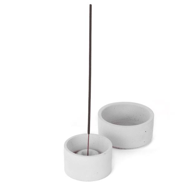 világosszürke beton dizájn füstölőtartó és ültető tálka