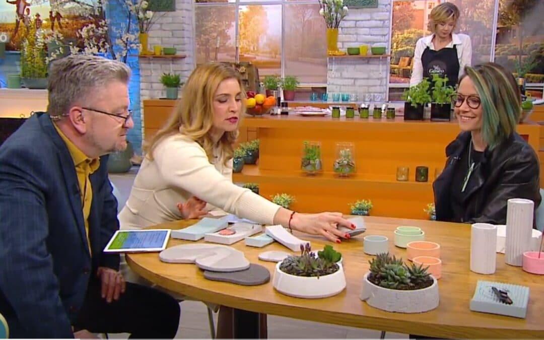 Színes beton design tárgyaink a Duna TV – családi műsorában